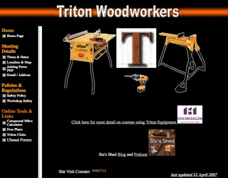 Triton Woodworkers Homepage