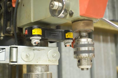 Laser Mounted to Drill Press Post