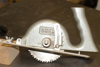 Rear of saw