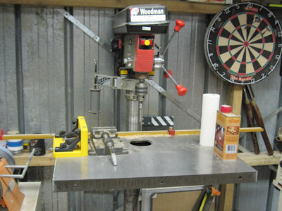 Trying a CI Drill Press Tabletop