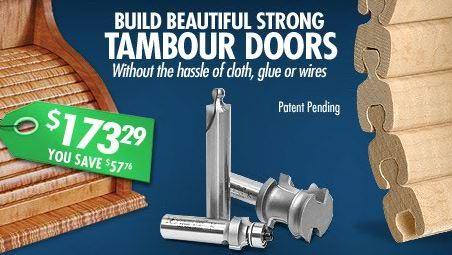 Tambour Door Router Bits