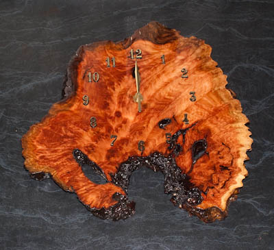 Completed Burl Clock