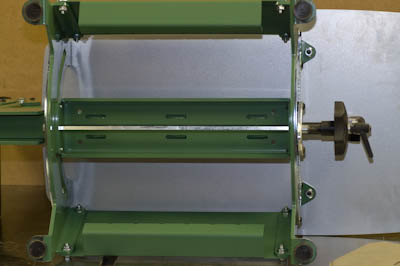 Underside Showing Tilt Mechanism Rod