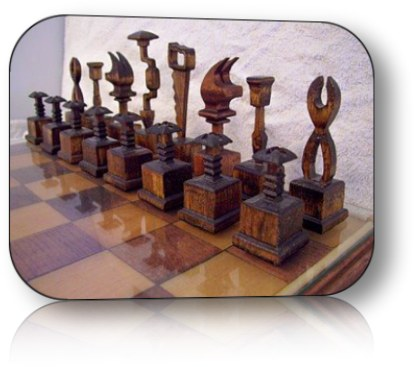 Turned chess set plans