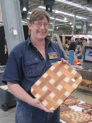 "Larry and his ""Woven"" Chopping Board"