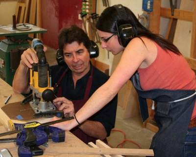 Richard Vaughan and Michelle Berger a student at his recent USA workshops