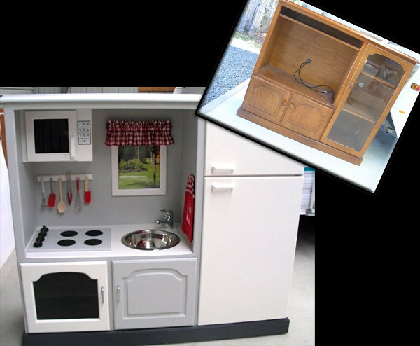 Convert Old TV Cabinets Into State of the Art Play Kitchens | Stu's ...