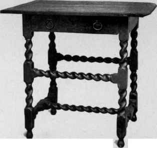 Table from 1650