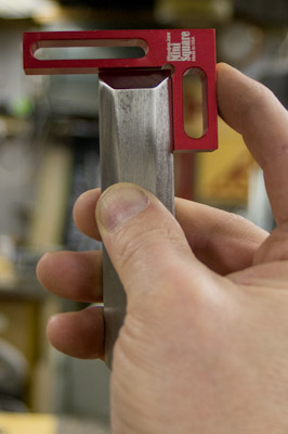 Checking a chisel is square