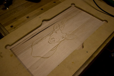 Completed carving