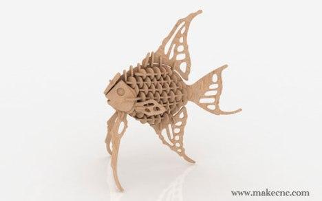 Angel-Fish_3d_scrollsaw_pattern_dxf_500